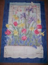 Jane Shasky Easter Garden Yard Flag Spring Flowers Daffodil Tulip (Has Fading)