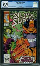Silver Surfer #44 CGC 9.4 1990 1st Infinity Gauntlet! Thanos! Avengers H7 151 cm
