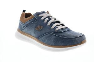 Skechers Delson 2.0 Kemper 210024 Mens Blue Canvas Lifestyle Sneakers Shoes 8
