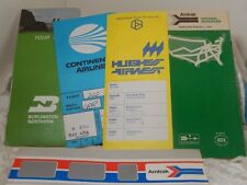 Airline and Train Tickets 1970's  Hughes, Continental Airlines Amtrak