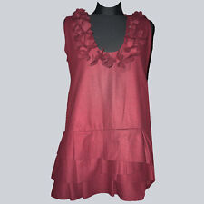Tolles Kleid, Long Tunika, Gr. XL (ca. Gr. 38), bordeaux, Polyester, Wolle, rot