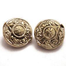 Repousse 2 Beads Tibetan Nepalese Handmade Tibet Nepal By Eksha UB2511