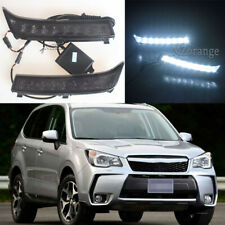 2PCS LED Daytime Running Light For Subaru Forester 2013 2014 2015 DRL Fog Lamp