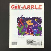 Vintage Apple II IIGS Computer Call A.P.P.L.E. Magazine, For Advanced Users 1989