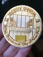 D30 NYPD TRUMP PRESIDENTIAL RESIDENCE DETAIL CHALLENGE COIN Serialized