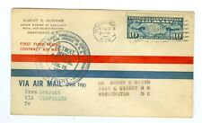 1926 CAM FLIGHT COVER 6E1 DETROIT TO CLEVELAND C7 FIRST DAY COVER FORD MOTOR CO.