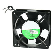 120x120x38mm 5 Blades Metal Frame Axial Flow Cooling Fan AC 220/240V 0.12A 22W