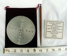 Made-in-the-USA Pewter Chartres Desktop Labyrinth with Beaded Wood Stylus
