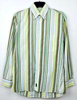 GANT Regular Fit Men's Medium Cotton Long Sleeved Formal Shirt Casual M Striped
