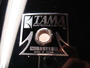 """Vtg 70s/80s TAMA ImperialStar 18""""x 16"""" floor tom SHELL. Re-Rings. BLACK w/ badge"""