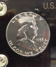 1953 US Mint Proof 5 Coin Set in Black Plastic Case 90% Silver