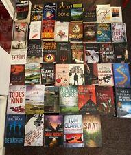 Büchersammlung 44 x Romane Buchpaket NUR SPANNUNG THRILLER KRIMI PSYCHO Konvolut