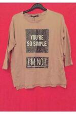 Bershka Ladies Brown T Shirt Top Size S BNWT