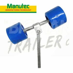 Manutec Boat Trailer Smooth Wobble Rollers Gal Dual Roller Bracket Support Rack