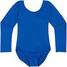 Mondor 497 Royal Blue Child Size Medium (7-10) Long Sleeve Leotard