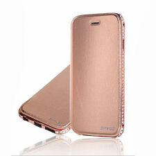 iPhone 5 5S Metal Deluxe Fashion Case Cover Skin Bling Hot Protect Leather