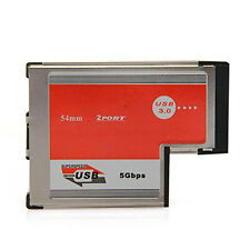 2 Port USB 3,0 ExpressCard ASM Chip PCMCIA-Express-Card für Notebook GY