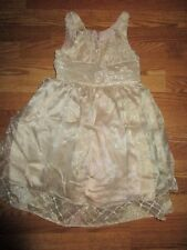 Girl's Bonnie Jean Gold Dress size 8 Great condition*