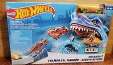 New Hot Wheels City Sharkbait Race Track Play Set - Orange Race Car Included