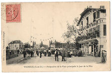 CPA 91 - VIGNEUX SUR SEINE (Essonne) - Perspective de la Place principale