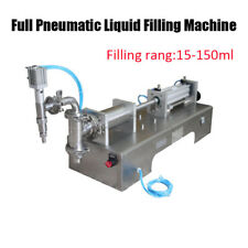 15-150ml Full Pneumatic Semi Automatic Liquid Filling Machine Stainless Steel