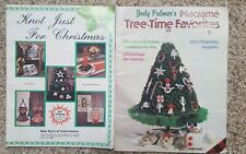 Christmas Decor Patterns Craft Book Macrame Ornaments Lot of 2