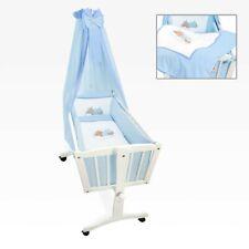 Bettset 5-tlg. für die Babywiege Schaukelwiege Sleeping Bear in Blau