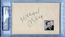 MICHAEL O'SHEA Signed Cut w/Rare Photo Jack London The Lady of Burlesque PSA/DNA