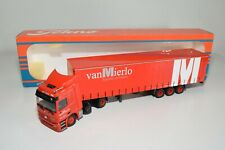 A5 25 1:50 TEKNO MERCEDES-BENZ ACTROS VAN MIERLO TRUCK WITH TRAILER MIB