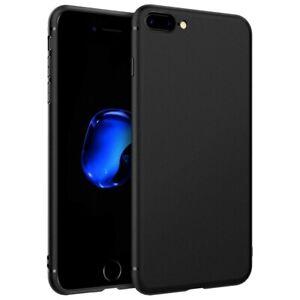 Schutzhülle für iPhone 7 Plus 8 Plus Handy Hülle Tpu Slim Case Etui Schwarz Matt