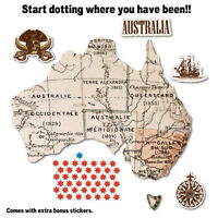 Vintage Australian Travel Map Sticker Aussie Car Flag 4x4 Funny Ute #7120EN