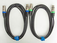 3m Mikrofon Kabel XLR DMX Kabel OFC-Kupfer  2 Stück je 3m lang inkl. Kabelklett