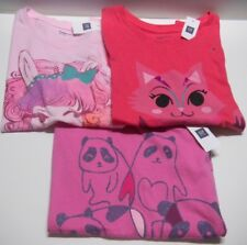 NWT GAP Kids lot of 3 girls T-shirts sz XL (12) cats panda pinks #2
