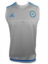 Adidas Canottiera da Uomo a maniche Olympique Marseille Less Maglietta (n7t)