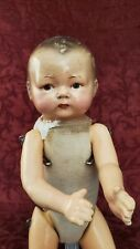Vintage Horsman E.I.H.Co Composition & Cloth Jointed11 in. Doll Painted Features