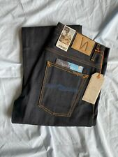 Nudie Jeans Co Straight Alf Organic Dry Ropy Selvedge Made in Italy 32X32 NJ3797