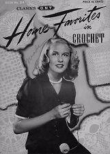 Coats Clark 214 Home Favorites Crochet Patterns Curtain Doily Rug Pineapple 1944