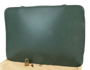 Authentic LOUIS VUITTON Baltic Green Taiga Leather Business Bag Briefcase #39439