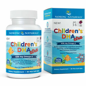 Nordic Naturals Children's DHA Xtra - Omega-3, DHA, 90 Soft Gels, Free P&P