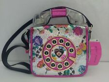 Betsey Johnson Off The Hook Phone Kitsch Crossbody Multi Floral Purse Handbag
