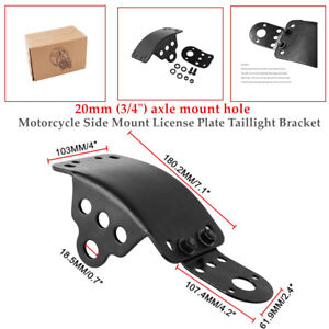 Motorcycle Side Mount License Plate Taillight Bracket fit most Old school bobber