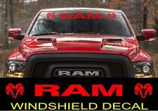 "DODGE RAM TRUCK Windshield Vinyl Decal Sticker Banner 40"" Vehicle RED Graphics"