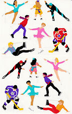 Mrs. Grossman's Giant Stickers - Ice Skaters - Hockey, Figure Skate - 2 Strips