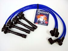 VMS HONDA DEL SOL B16 SI RACING 10.2MM SPARK WIRES & NGK V-POWER PLUGS SET BLUE