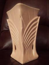 """Vintage Mccoy Art Deco 9"""" Pink Matte Finish Vase"""