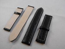 02- bracelet en véritable cuir 18 mm optimale qualité deployant breitling style
