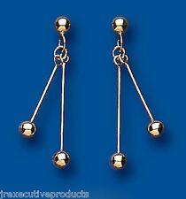Stick Earrings Bead Earrings Yellow Gold Drop Dangle Drops