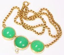 ♦ 18kt 750 Gold Collier Kette Goldcollier Chrysopras Brillant Brilliantcollier ♦
