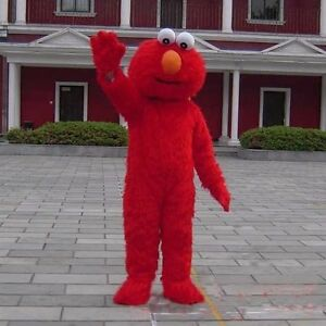 PRO Sesame Street Elmo Monster Suit Mascot Costume Fancy Dress Adult Size Outfit