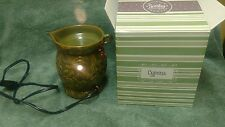 Cyprus Full Size Scentsy Warmer Retired 2009 Green Island Collection + Free Bar